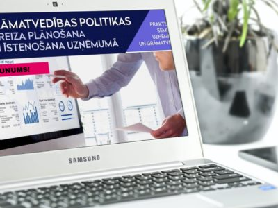 Grāmatvedības politikas pareiza plānošana un īstenošana uzņēmumā