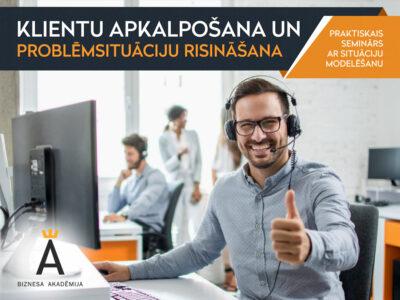 Klientu apkalpošana un problēmsituāciju risināšana