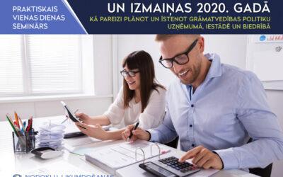 Grāmatvedības metodika un izmaiņas 2021. gadā