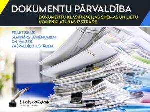 Dokumentu klasifikācijas shēmas un lietu nomenklatūras izstrāde